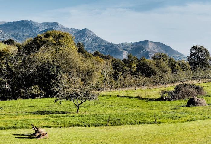 View of El Sueve mountains form el gran sueño