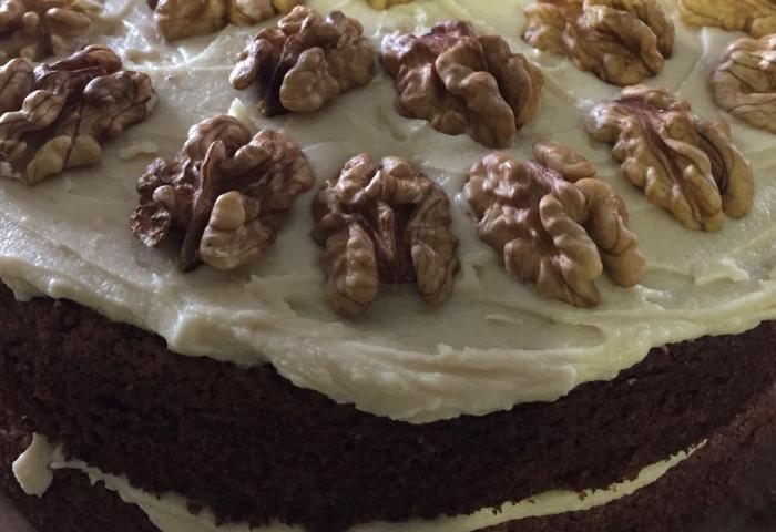 Carrot, walnut and coffee cake