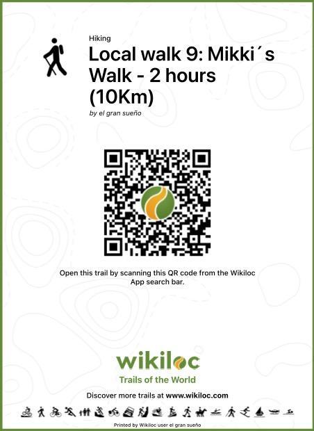 Ruta local 9 código QR de Wikiloc