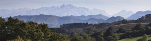 Vista de los Picos de Europa desde el jardín