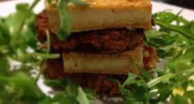 Carrot fritter & chargrilled tofu